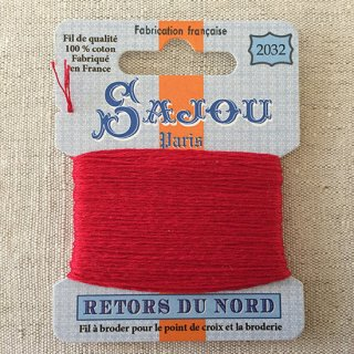 フランス刺繍|コットン糸 Retors du Nord#2032トルコの赤