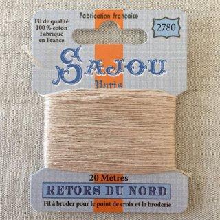 フランス刺繍 コットン糸 Retors du Nord #2780 エクリュ(生成り)