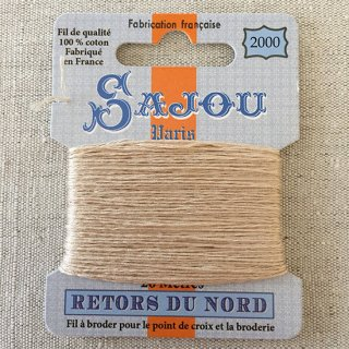 フランス刺繍 コットン糸 Retors du Nord  #2000 無染色