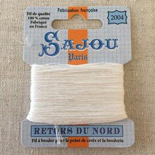 フランス刺繍 コットン糸 Retors du Nord  #2004 オフホワイト