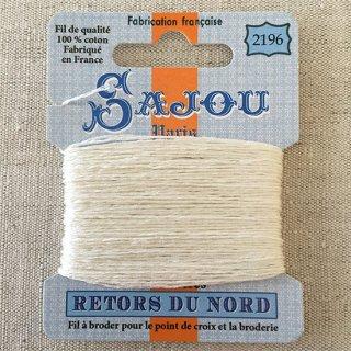 フランス刺繍 コットン糸 Retors du Nord  #2196 アイボリー