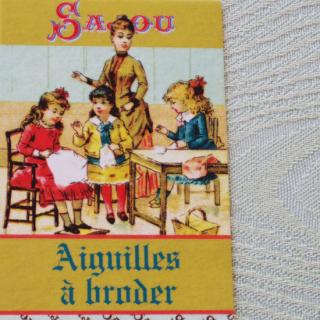 フランス雑貨 サジュー|クロスステッチ 刺繍針セット No.22,24,26 *ソーイングレッスン柄