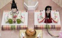 木目込 恵親王 桜刺繍の色織物