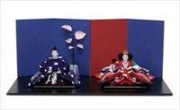 小出松寿作 SOU・SOUテキスタイルの雛人形 「ちぎれ雲」、「南天竹」と「明かり窓」