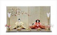 小出松寿 京十番親王 京極手刺繍 京染正絹 雪輪花丸文様