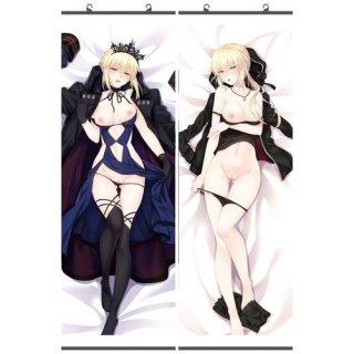 Fate/stay night セイバーオルタ タペストリー 18禁 同人 お得2枚セット 萌工房 gmz09959-34