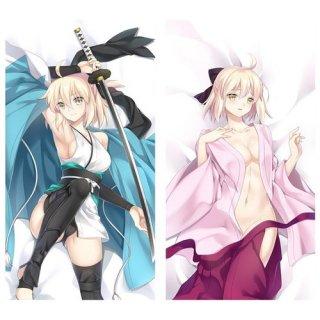 Fate/Grand Order 桜セイバー(沖田総司) 抱き枕カバー 同人 1/2サイズ 萌工房 smz09948-1