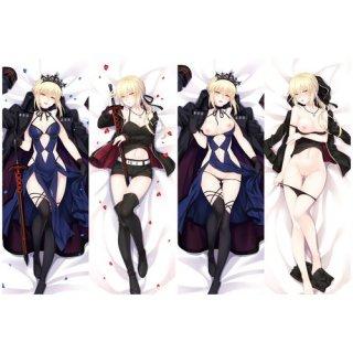 Fate/stay night セイバーオルタ 抱き枕カバー 18禁 同人 脱着式2枚重ね 萌工房 mz09959-3