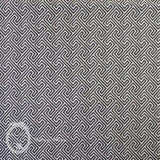 イギリス直輸入◆コットン・モノグラム【ブラック】