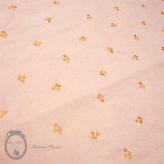 刺繍コットンリネンチェリー【ピンク】