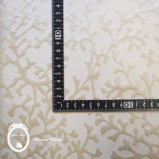 50%off!スペイン直輸入◆刺繍サンゴ【アイボリー】