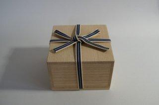 国産桐・四方桟桐箱(内のり14×7〜10)真田紐付