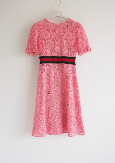 GUCCI /pink lace dress