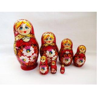 キーロフ産マトリョーシカ 赤7個組み