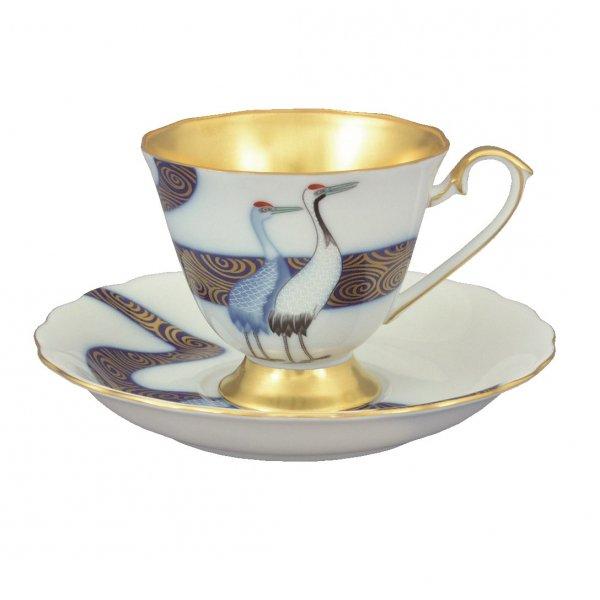 香蘭社 光琳鶴 コーヒーカップ&ソーサー