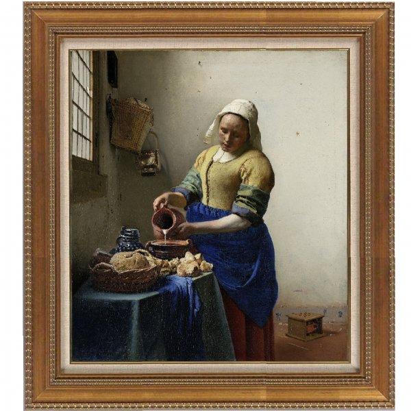 プリハード複製画/ヨハネス・フェルメール「牛乳を注ぐ女」