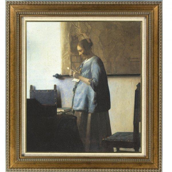 プリハード複製画/ヨハネス・フェルメール「青衣の女」