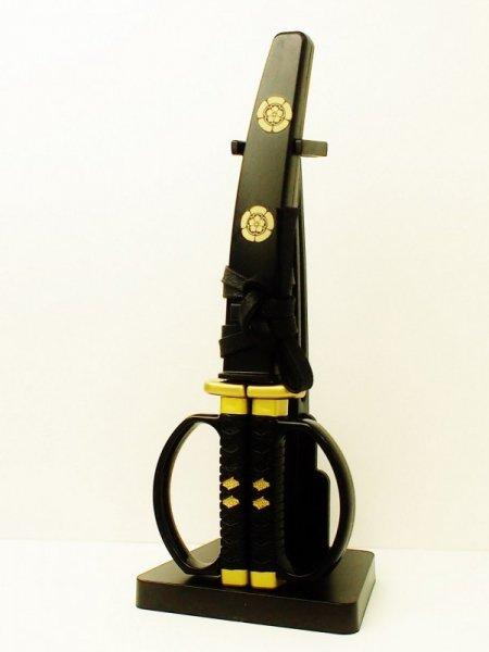 日本刀はさみ 織田信長 宗三左文字モデル 掛台付き