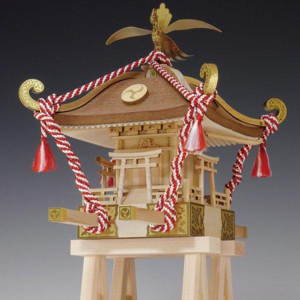 木製建築模型 1/10 ミニみこし