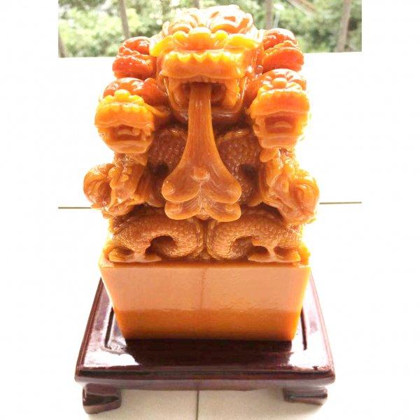 玉璽 皇帝の印鑑レプリカ(石製)