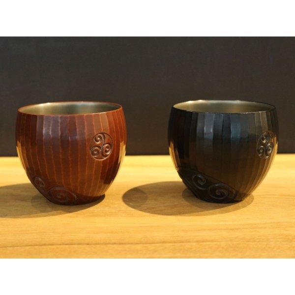 鎌倉彫 俱利カップ(倶利文/刀痕)