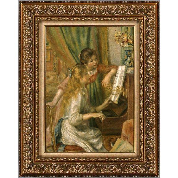 プリハード複製画/ピエール・オーギュスト・ルノワール「ピアノに寄る少女たち」