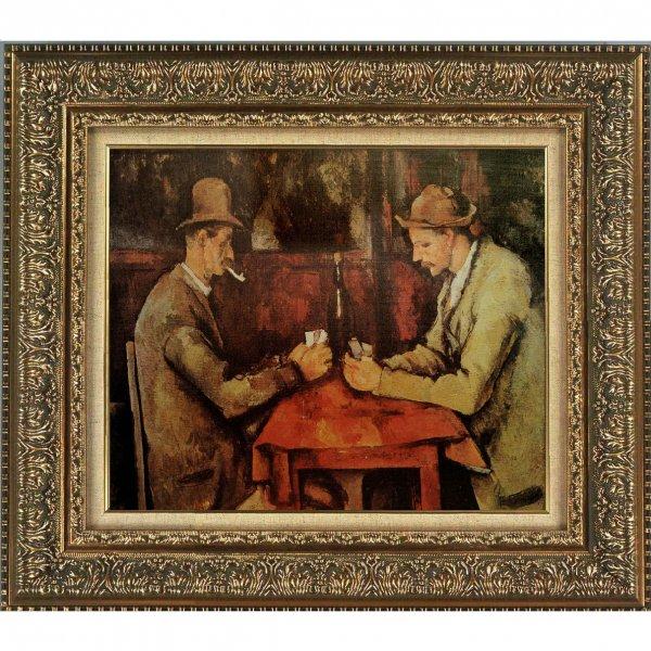 プリハード複製画/ポール・セザンヌ「カード遊びをする人々」