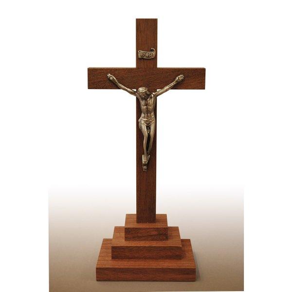 木製卓上十字架(中・御像付き)