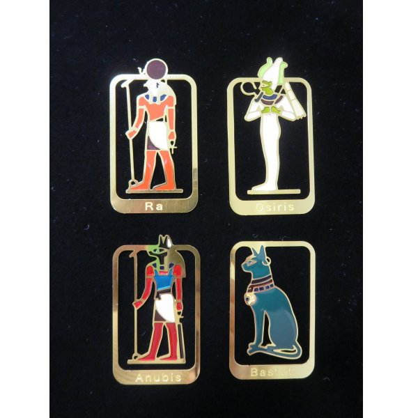 古代エジプト神 クリップブックマーカー 4種セット