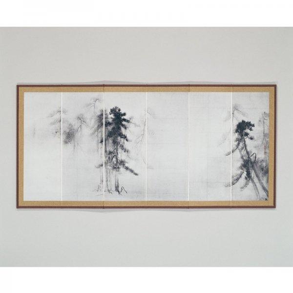 縮小屏風/〈国宝 松林図屏風〉長谷川等伯筆