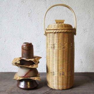 【予約:3~8ヵ月後お届け】青空茶器揃 備前焼×竹