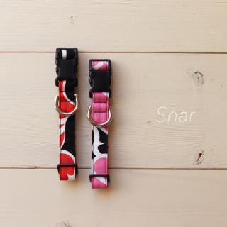 marimekko Snar Collar<br>Size M<br>Black / Pink