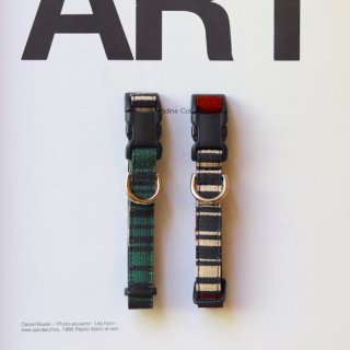 Yanagi Collar<br>Size S<br>Green / Brown