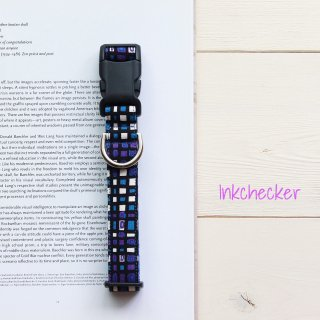 Inkchecker Collar<br>Blue<br>Size SS<img class='new_mark_img2' src='https://img.shop-pro.jp/img/new/icons57.gif' style='border:none;display:inline;margin:0px;padding:0px;width:auto;' />