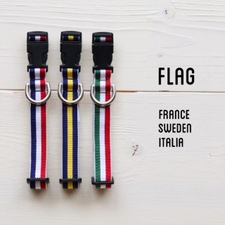 Flag Collar<br>Size S<br> France/Sweden/Italia