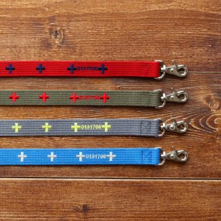 Cross Lead<br>Size L<br>Red/Khaki/Grey/Blue