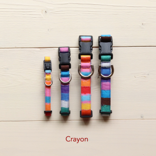 Crayon collar<br>Size S<br>Pink / Blue