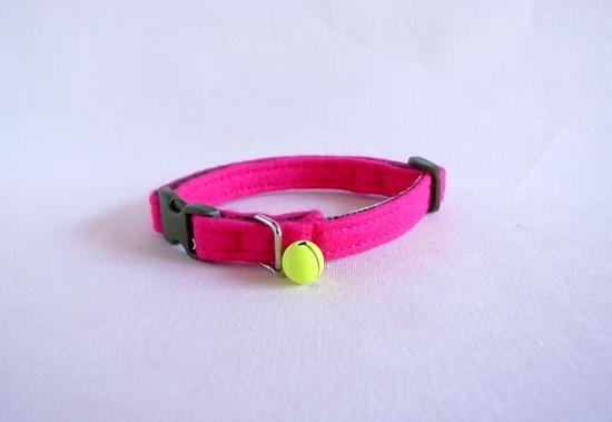 Felt [Pink]  Cat collar