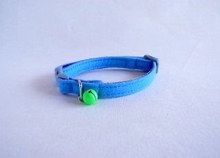 Cat collar<br>Felt<br> [blue]