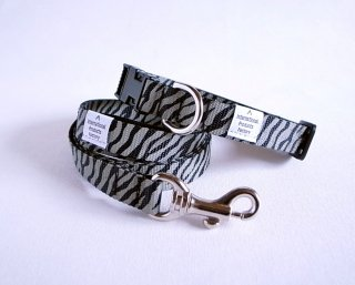 Zebra Collar & Lead セット<br>Size S<br>Black/Brown<br>