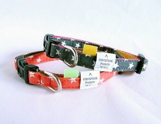 Hoshi Collar<br>Size SS<br>Red/Grey<br>