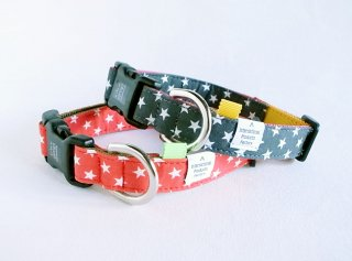 Hoshi Collar<br>Size M<br>Red/Grey<br>