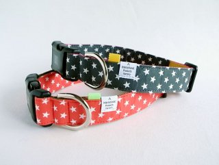 Hoshi Collar<br>Size L<br>Red/Grey<br>