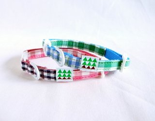 Twin Collar<br>Size SS<br>Pink/Green<br>