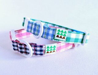 Twin Collar<br>Size S<br>Pink/Green<br>