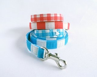 Checkborder Lead<br>Size S<br>Blue/Red<br>