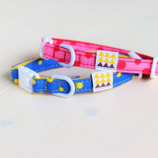 Candydot Collar<br>Size SS<br>Blue / Pink<br>