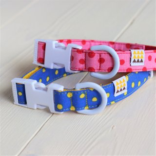 Candydot Collar<br>Size L<br>Blue / Pink<br>