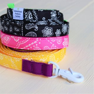 Bandana Lead<br>Size S<br>Black / Pink / Yellow<br>