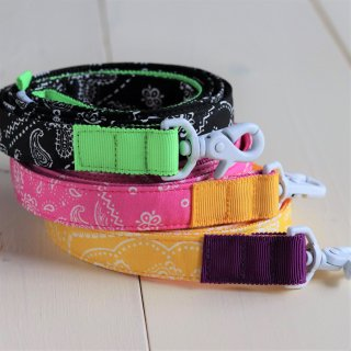 Bandana Lead<br>Size M<br>Black / Pink / Yellow<br>